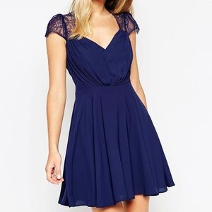 Asos Kate lace Mini Dress Size 2 Preowned.